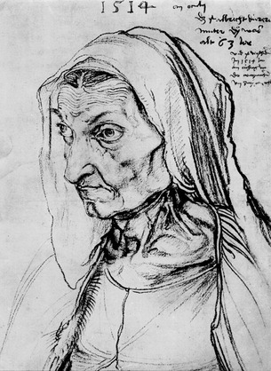 Znalezione obrazy dla zapytania portret matki albrecht durer