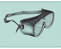 Okulary ochronne ze szkłem czerwonym