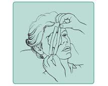 Zasłanianie oka sterylnym opatrunkiem