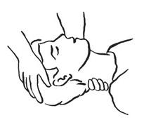 a – wyprostowanie szyi