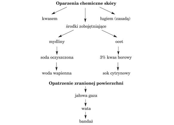 Oparzenia chemiczne skóry