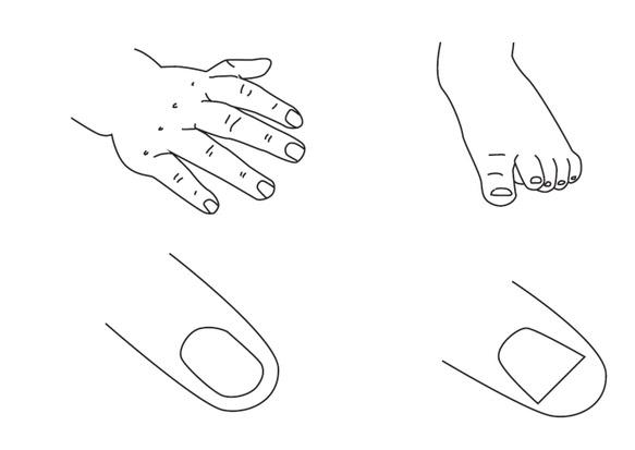 Obcinanie paznokci.